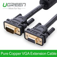 Cheap Ugreen Projector Extension VGA to VGA Cable Gold-Plated 2m 3m High Premium VGA Black Cabo Male to Female