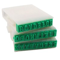 Wholesale Nice Price Detachable Letters English Alphabet Plastic Stamp Set