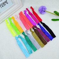 Wholesale Knot hair bands Tie string Candy color hair bands Fashionable and lovely hair bands