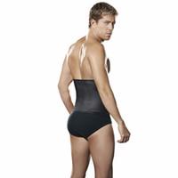 Wholesale Getting Shape Latex Waist Trainer Vest for Men Waist Cincher Firm Tummy Slimming Male Waist Train Corset Waist Training