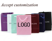 Wholesale Gold With Film Paper Gift Bag Size Included Free Design Print LOGO