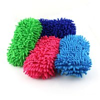 Wholesale Wash clean sponge sponge word coral sponge with chenille cleaning sponge car