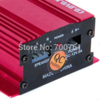 Wholesale Hot sell W channels Mini amplifier Car Motorcycle Hi Fi Stereo Audio Amplifier amplificador for Car Mp3 MP4 Speaker