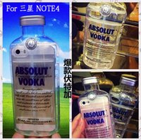 absolute shipping - New Style Luxury absolute Vodka alcohol Wine Bottle Transparent Clear TPU Capa Phone Case Cover For Samsung Note4