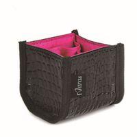 Wholesale NARAS Black Makeup Cosmetic Storage Bag Faux Crocodile Skin Make Up Brushes Organizer Bag Holder Cases