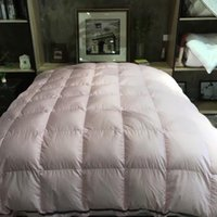 Wholesale duck down pieces of encryption soft race silk white pink Autumn and winter use Duvet
