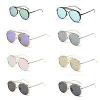 achat en gros de lunettes lunettes de soleil rétro-Hot Mode Rétro Vintage Femmes Hommes Steampunk Lunettes de soleil unisexe Desinger lunettes ronde classique Steampunk Eyewear avec la boîte