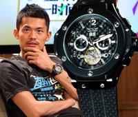 Prezzi Orologi jaragar-2016 Luxury Brand JARAGAR mechina Floding uomini fibbia dell'orologio automatico di sport del Mens di immersione meccanici automatici BIG Tourbillon orologi JARAGAR
