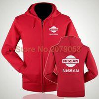 bape shop - Women and men Nissan autumn and winter car standard s shop tooling hooded zipper sweatshirts customed