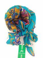 art silk scarf - Brand New Women Square Scarves mulberry silk Shawl Wrap Art blue
