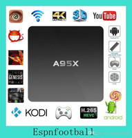 Wholesale A95X Android Marshmallow K TV Box A95X Amlogic S905 Mini PC KODI Pre installed Small Smart Beats MXQ Pro With Learning Remote