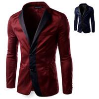 Wholesale 2016 New Fashion Casual Blazer Men Fashion Slim Fit Jacket Masculine Blazer Coat Button Suit Men Formal Suits jacket BXZ019
