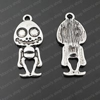 antique doll accessories - MM Antique Silver Zinc Alloy Lead and nickel free Skeleton Doll Diy Jewelry Findings Accessories