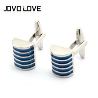 Wholesale Silver Plated Mens Cufflinks Business Shirts Wedding Suit White Stripe Cuff Links Vintage Jewelry Wedding Gift Mens Cuff Link