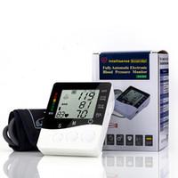 Wholesale Arm blood pressure monitor health care monitors tonometer pulsometro Digital Upper Portable sphygmomanometer