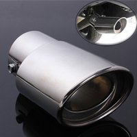 Wholesale Universal Chrome Stainless Steel Car Rear Round Exhaust Pipe Tail Muffler For auto DIY