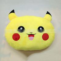 Cheap New 35*25*10cm Poke plush Pillow pikachu Pillow Cushion cartoon 14 inches Pikachu Stuffed Animals Pillows dolls EMS Shipping E1255