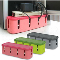 Wholesale JJ236 Power Strip Storage Boxes Organizer Safety Socket Outlet Board Container Cables Electric Wire Case Accessories Supplies