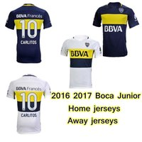 Wholesale 2016 Boca Junior soccer jerseys Home Away Boca Junior Maillot CARLITOS top quality football shirt TEVEZ