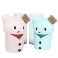 Wholesale The new creative gift vest cartoon water bottle couple cups high temperature sealing glass sheath leak proof cup ml