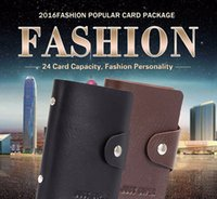 Wholesale 1pcs Men s Women Leather Credit Card Holder Case card holder wallet Business Card Package PU Leather Bag