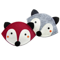 Wholesale KIKIKIDS Gray And Bordeaux Fox Coin Purse Small Cute Purses For Kids KIKIKIDS