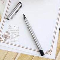 Logo d'entreprise cadeaux France-Wholesale-Silver Métal Parker Marque stylos plume avec boîte de cadeau pour les cadeaux d'affaires Writing Personnaliser Engrave Logo Livraison gratuite