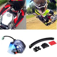 Wholesale for Go pro Accessories Mount Motorcycle Cycling Helmet Extension Arm Buckle M Sticker For Gopro Hero SJ4000 SJ6000 C1