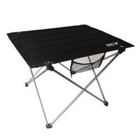 Wholesale Portable Camping Table Outdoor Golden Aluminium Alloy Foldable Folding Black Oxford Fabric Table For Hiking Picnic
