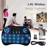 Wholesale 2 Ghz Mini Wireless Keyboard LED Backlit Touchpad for PC Android TV XBOX DHL
