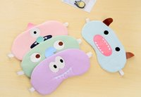 Wholesale Sleep Mask Cartoon Eyes - Free Shipping Sleeping Eye Mask Nap Eye Shade Cartoon Blindfold Sleep Eyes Cover Sleeping Travel Rest Patch Blinder WA0110