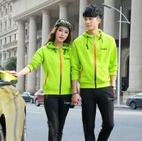 age active wear - New age season couples sport suit hooded cardigan high quality sports wear cotton clothing M xl sales A