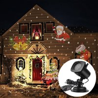 Wholesale LED Outdoor Projector Light Halloween Christmas Led Projectors Lamp Patterns Christmas Fairy Light Party Wall Light Stage Effects Light