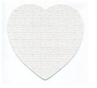 Wholesale DIY Gift charge Low Price Heart shaped Puzzle Sublimation And Heat Press Heart shaped Puzzle for Chilidren