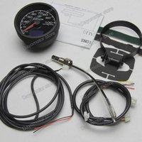 Wholesale Racing Greddy Gauge Water Temp Gauge Light Colors LCD Display With Voltage Meter Car Gauge mm Inch