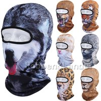 Masque gros-3D animal séchage rapide Balaclava extérieur Faire du vélo Moto Windproof Ski Snowboard Hat Halloween Cat Dog Full Face