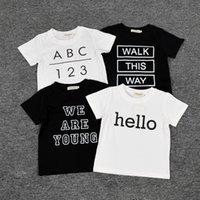 Wholesale Kids clothes Baby t shirt for boy clothes t shirt cotton clothes baby clothing cartoon t shirts Long sleeve cartoon Tshirt Harem pants short