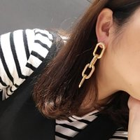 Wholesale European and American Fashion Personality Exaggerated Symmetry Crude Chain Earrings Ear Acupuncture for Women Lady Girl