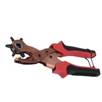 band pliers - 2016 Durable Multifunction Leather Belt Watch Band Strap Oval Round Flat Hole Punch Plier