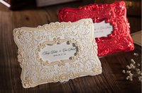 Wholesale 2016 New Creative Gold Red White Wedding Invitations Lace Business Invitations Card For Party Supply Custom Made