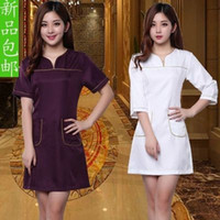beauty salon wear - The new beauty salon beautician uniforms clothing nurse beauty clothing Autumn wear the uniform