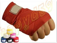 Wholesale 2pcs M Cotton MMA kick boxing bandage wrist straps sports Sanda Taekwondo Hand Gloves wraps bandage muay thai Hand Gloves