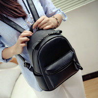 Wholesale The new han edition contracted school backpack female British wind restoring ancient ways pure color pu leather joker satchel bag