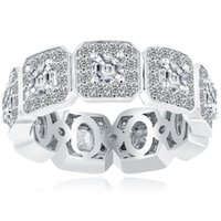 asscher wedding band - 4 F VVS1 Asscher Cut Diamond Eternity Wedding Band Ring k White Gold