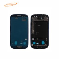 Wholesale Cell Phone Housing for Samsung Galaxy S3 I9300 I9305 Original Mobile Phone Front Housing Bezel Frame for Samsung N0295