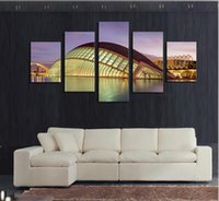 architecture artwork - No Frame Piece The Modern Architecture Home Wall Decor Canvas Picture Art HD Print Painting On Canvas Artworks