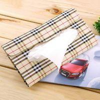 Wholesale Car sun visor Tissue box Auto accessories holder Paper napkin clip PU leather Case Hot Search