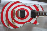 Wholesale High Quality Custom Shop Strings EMG pick up Zakk Wylde Bullseye white red Circle Electric Guitar