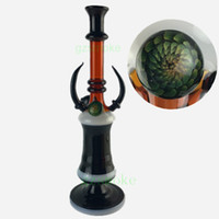Wholesale 2016 Straight Tube Type Bullhorn Water Pipes colorful beaker bong dab rigs oil heady bongs pipe thick