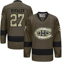 alexei kovalev - Montreal Canadiens Mens Jerseys Alexei Kovalev Army Green Salute to Service Ice Hockey Jerseys Can Mix Order